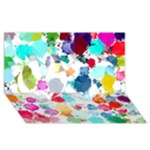 Colorful Diamonds Dream Twin Hearts 3D Greeting Card (8x4)