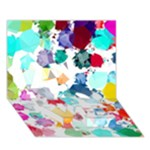 Colorful Diamonds Dream LOVE Bottom 3D Greeting Card (7x5)