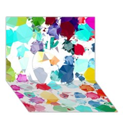 Colorful Diamonds Dream Apple 3d Greeting Card (7x5) by DanaeStudio