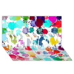 Colorful Diamonds Dream #1 Mom 3d Greeting Cards (8x4)