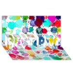 Colorful Diamonds Dream BEST BRO 3D Greeting Card (8x4)