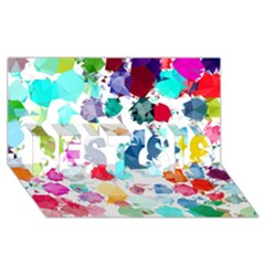 Colorful Diamonds Dream Best Sis 3d Greeting Card (8x4) by DanaeStudio
