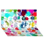 Colorful Diamonds Dream BEST SIS 3D Greeting Card (8x4)