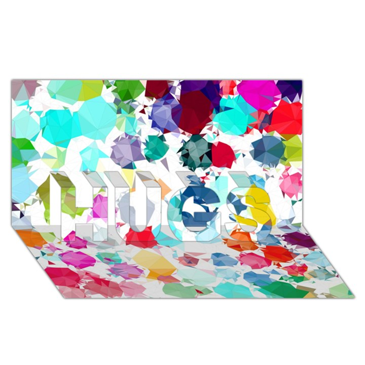 Colorful Diamonds Dream HUGS 3D Greeting Card (8x4)