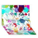 Colorful Diamonds Dream Miss You 3D Greeting Card (7x5)