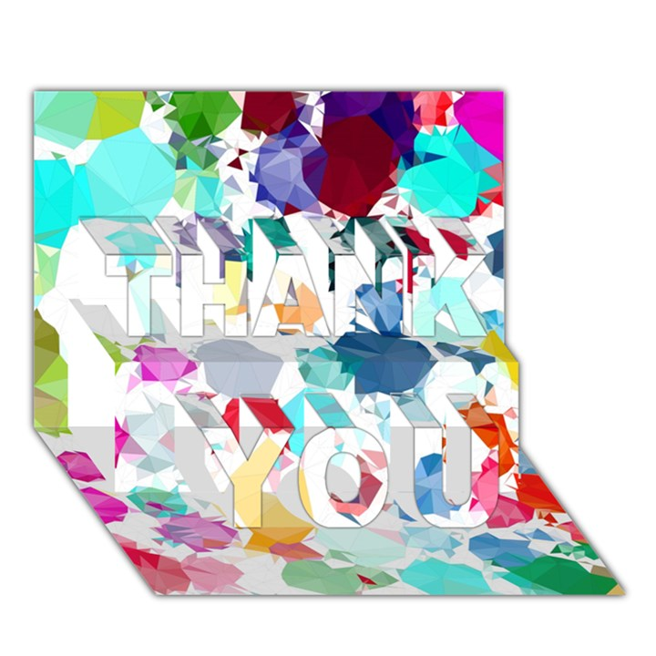 Colorful Diamonds Dream THANK YOU 3D Greeting Card (7x5)