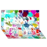 Colorful Diamonds Dream Laugh Live Love 3D Greeting Card (8x4)