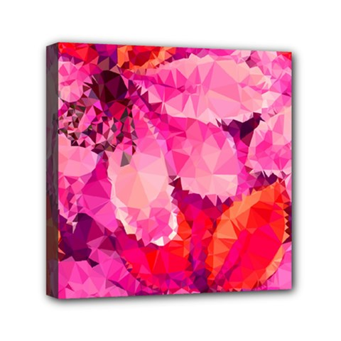 Geometric Magenta Garden Mini Canvas 6  x 6