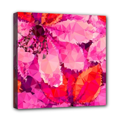 Geometric Magenta Garden Mini Canvas 8  x 8