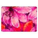 Geometric Magenta Garden Samsung Galaxy Tab 10.1  P7500 Flip Case View1