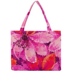 Geometric Magenta Garden Mini Tote Bag