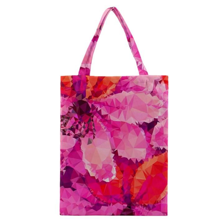 Geometric Magenta Garden Classic Tote Bag
