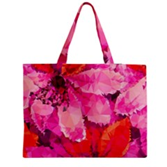 Geometric Magenta Garden Medium Tote Bag
