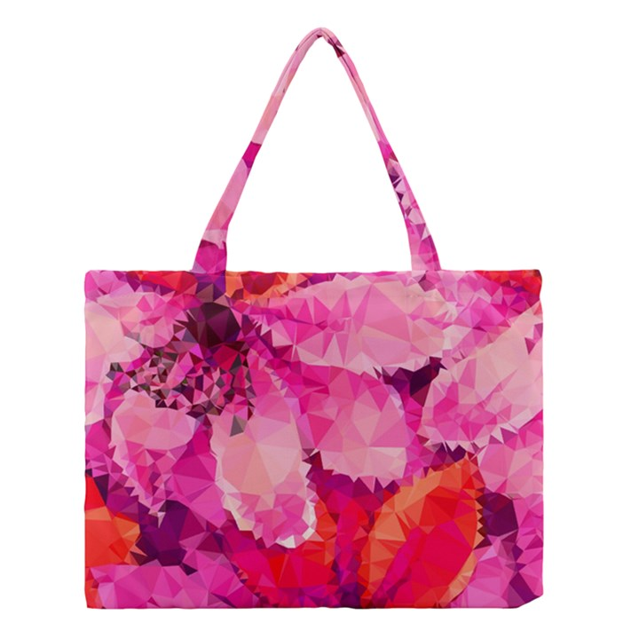 Geometric Magenta Garden Medium Tote Bag