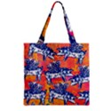 Little Flying Pigs Zipper Grocery Tote Bag View2