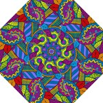 Pop Art Paisley Flowers Ornaments Multicolored Straight Umbrellas