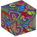 Pop Art Paisley Flowers Ornaments Multicolored Storage Stool 12