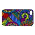 Pop Art Paisley Flowers Ornaments Multicolored Apple iPhone 4/4S Hardshell Case View1