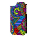 Pop Art Paisley Flowers Ornaments Multicolored Apple iPhone 5 Hardshell Case (PC+Silicone) View3
