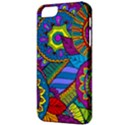 Pop Art Paisley Flowers Ornaments Multicolored Apple iPhone 5 Classic Hardshell Case View3