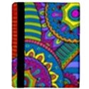 Pop Art Paisley Flowers Ornaments Multicolored Apple iPad 3/4 Flip Case View3