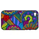 Pop Art Paisley Flowers Ornaments Multicolored Apple iPhone 4/4S Hardshell Case (PC+Silicone) View1