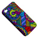 Pop Art Paisley Flowers Ornaments Multicolored Apple iPhone 4/4S Hardshell Case (PC+Silicone) View5
