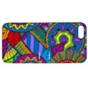 Pop Art Paisley Flowers Ornaments Multicolored Apple iPhone 5 Hardshell Case with Stand View1