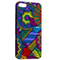 Pop Art Paisley Flowers Ornaments Multicolored Apple iPhone 5 Hardshell Case with Stand View2