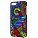 Pop Art Paisley Flowers Ornaments Multicolored Apple iPhone 5 Hardshell Case with Stand View3