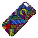 Pop Art Paisley Flowers Ornaments Multicolored Apple iPhone 5 Hardshell Case with Stand View4