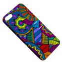 Pop Art Paisley Flowers Ornaments Multicolored Apple iPhone 5 Hardshell Case with Stand View5