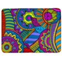 Pop Art Paisley Flowers Ornaments Multicolored Samsung Galaxy Tab 7  P1000 Flip Case View1