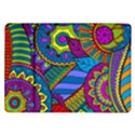 Pop Art Paisley Flowers Ornaments Multicolored Samsung Galaxy Tab 10.1  P7500 Flip Case View1