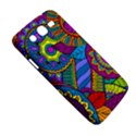 Pop Art Paisley Flowers Ornaments Multicolored Samsung Galaxy Mega 5.8 I9152 Hardshell Case  View5