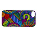 Pop Art Paisley Flowers Ornaments Multicolored Apple iPhone 5S/ SE Hardshell Case View1