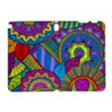 Pop Art Paisley Flowers Ornaments Multicolored Samsung Galaxy Note 10.1 (P600) Hardshell Case View1