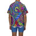 Pop Art Paisley Flowers Ornaments Multicolored Kids  Short Sleeve Swimwear View2