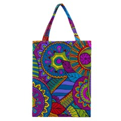 Pop Art Paisley Flowers Ornaments Multicolored Classic Tote Bag