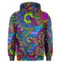 Pop Art Paisley Flowers Ornaments Multicolored Men s Pullover Hoodie View1