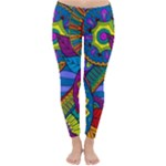 Pop Art Paisley Flowers Ornaments Multicolored Winter Leggings