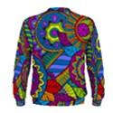 Pop Art Paisley Flowers Ornaments Multicolored Men s Sweatshirt View2