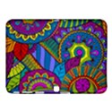 Pop Art Paisley Flowers Ornaments Multicolored Samsung Galaxy Tab 4 (10.1 ) Hardshell Case  View1