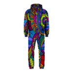 Pop Art Paisley Flowers Ornaments Multicolored Hooded Jumpsuit (Kids)