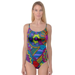 Pop Art Paisley Flowers Ornaments Multicolored Camisole Leotard