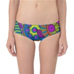 Pop Art Paisley Flowers Ornaments Multicolored Classic Bikini Bottoms