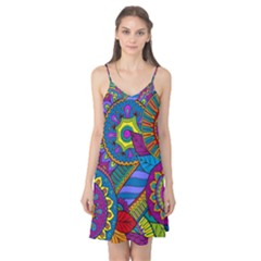 Pop Art Paisley Flowers Ornaments Multicolored Camis Nightgown