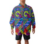 Pop Art Paisley Flowers Ornaments Multicolored Wind Breaker (Kids)
