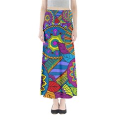 Pop Art Paisley Flowers Ornaments Multicolored Maxi Skirts