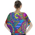 Pop Art Paisley Flowers Ornaments Multicolored Blouse View2